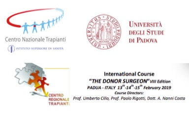 The Donor Surgeon - A Master course in organ procurement (13-15 February, Padua, Italy)