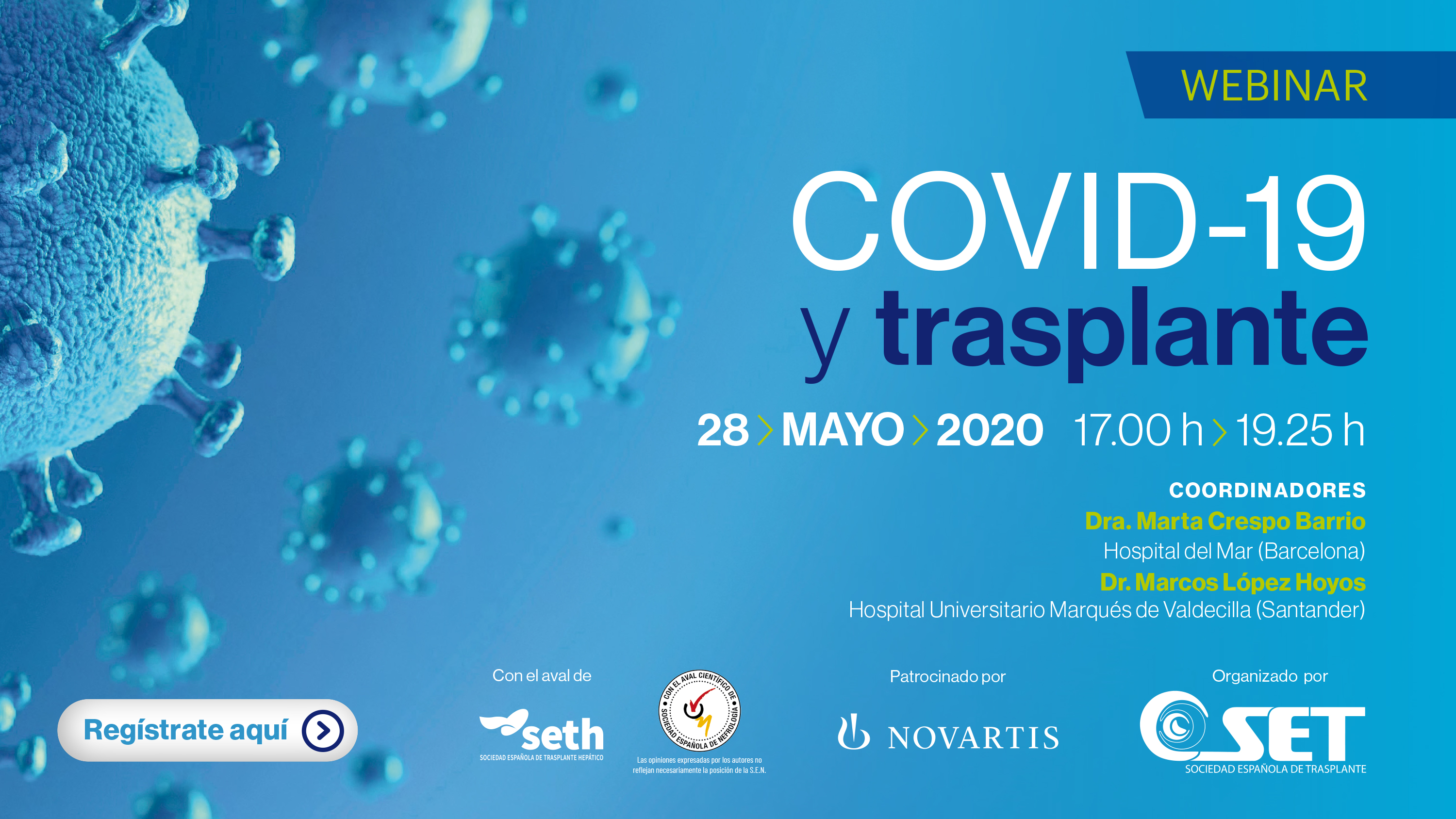 VIDEO DISPONIBLE | Webinar COVID19 y Trasplante